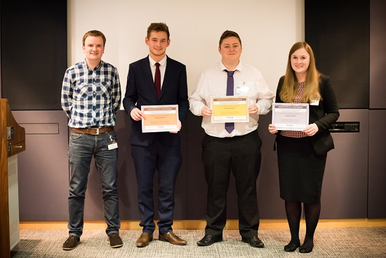Our three winners for the SLA Undergraduate Awards 2016
